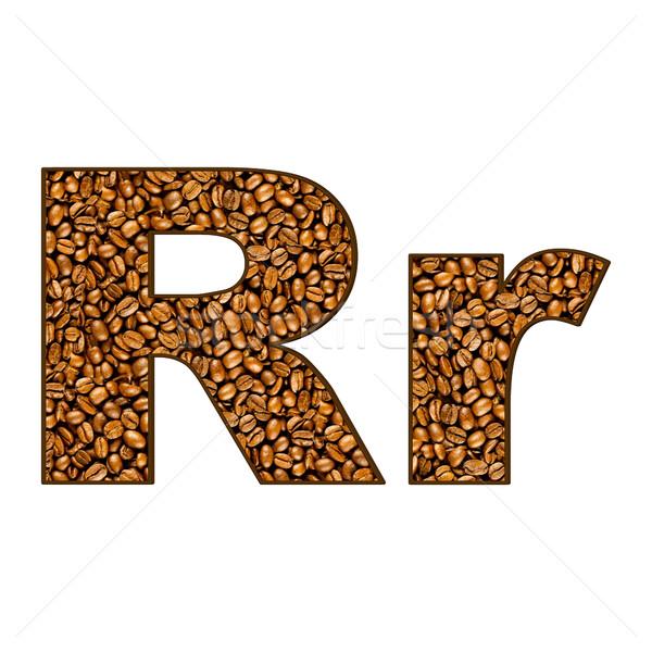 coffee letter on white.  One letter of  coffee alphabet. Letter  Stock photo © EwaStudio