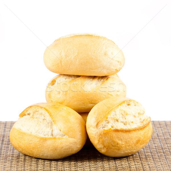 хлеб белый изолированный белый хлеб кукурузы Сток-фото © EwaStudio