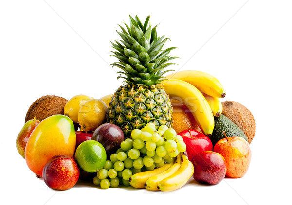 Frutas isolado branco abstrato folha fruto Foto stock © EwaStudio