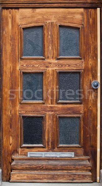 古い 木製 ドア 家 壁 ホーム ストックフォト © EwaStudio