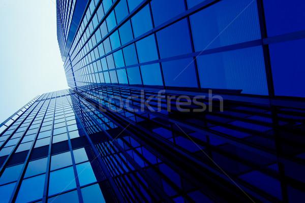 Vidro residencial edifício moderno silhueta Foto stock © EwaStudio