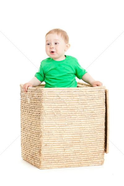 ストックフォト: 少年 · ボックス · 白 · ビジネス