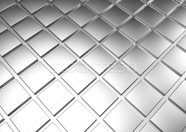 Plata metal bar banco placa mercado Foto stock © EwaStudio