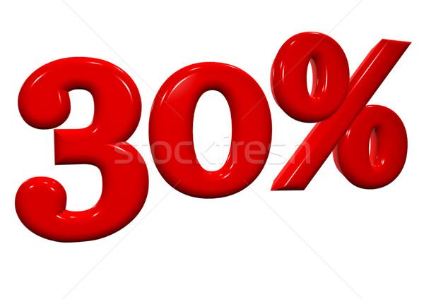 30 por cento vermelho cartas branco negócio Foto stock © EwaStudio