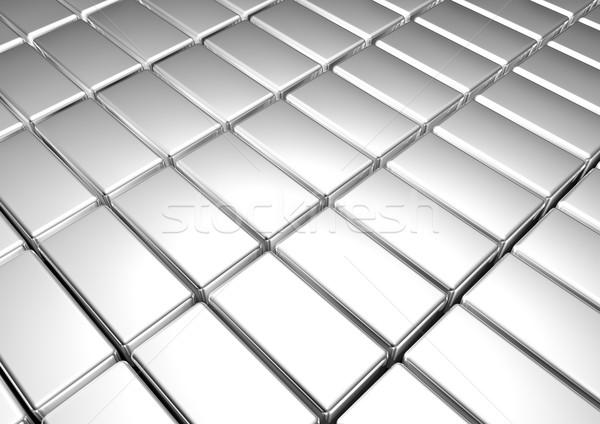 Zilver metaal bar bank plaat markt Stockfoto © EwaStudio