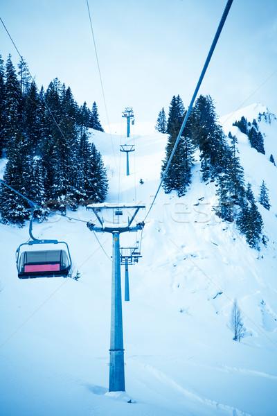 лыжных лифт стульев Top горные курорта Сток-фото © EwaStudio