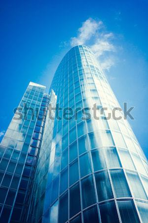 office buildings.  modern glass silhouettes of skyscrapers Stock photo © EwaStudio