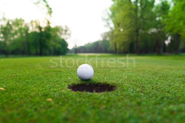 Сток-фото: мяч · для · гольфа · губа · Кубок · гольф · спорт · зеленый