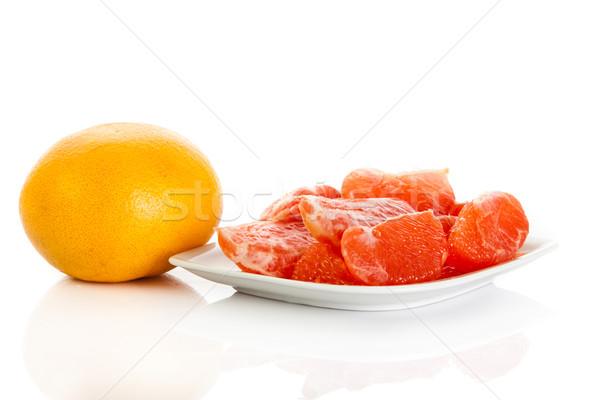 グレープフルーツ 孤立した 白 食品 自然 赤 ストックフォト © EwaStudio