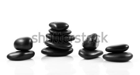 Preto massagem pedras isolado rocha Foto stock © EwaStudio