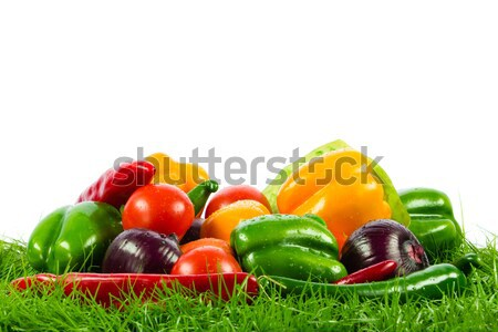 Fresh vegetable isolated on white background.  Healthy Eating. S Stock photo © EwaStudio