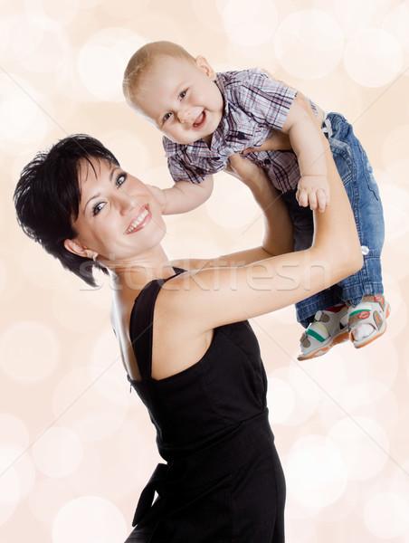 Belo feliz mãe atraente bebê menino Foto stock © EwaStudio