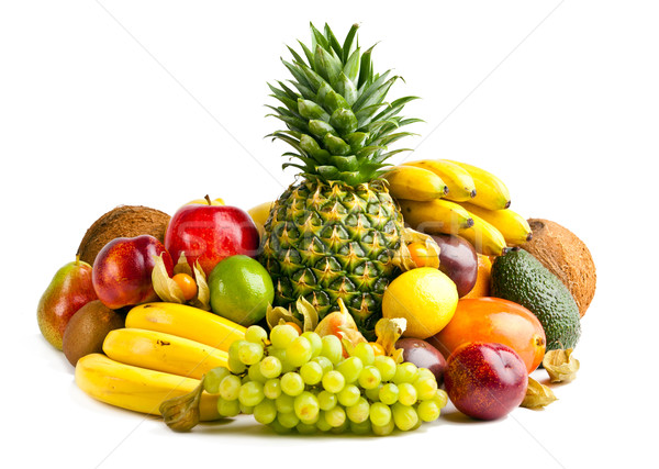 Frutas aislado blanco resumen hoja frutas Foto stock © EwaStudio