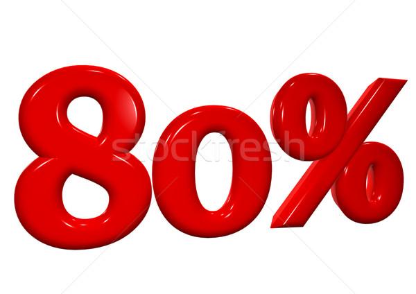 80 por cento vermelho cartas branco negócio Foto stock © EwaStudio