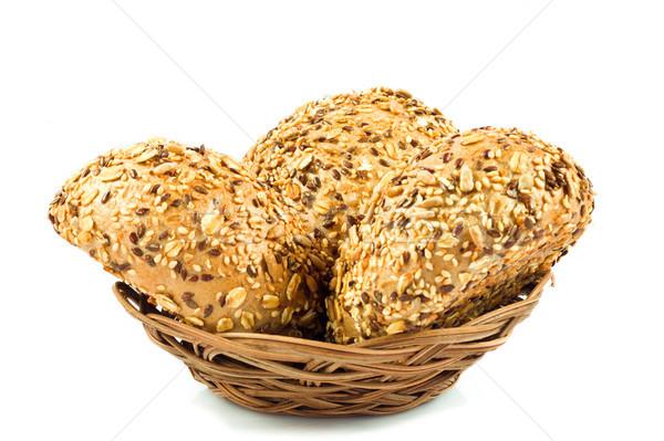Teljeskiőrlésű kenyér különböző magok étel napraforgó Stock fotó © EwaStudio
