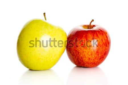 Fresco colorido maçãs isolado branco fruto Foto stock © EwaStudio