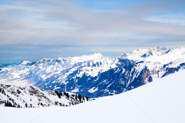 Winter landscape. winter mountains landscape. Beautiful winter Stock photo © EwaStudio