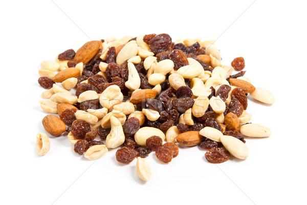 орехи белый изолированный продовольствие Сток-фото © EwaStudio