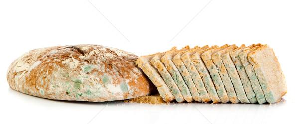 Stockfoto: Brood · beschimmeld · geïsoleerd · witte · gevaar