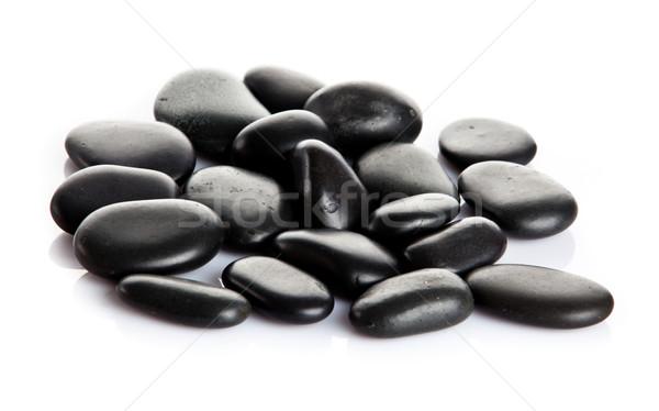 черный массаж камней изолированный реке энергии Сток-фото © EwaStudio