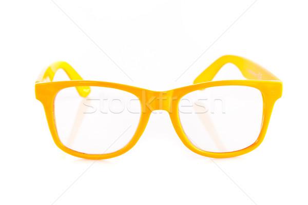 yellow  glasses on white background.  Stock photo © EwaStudio