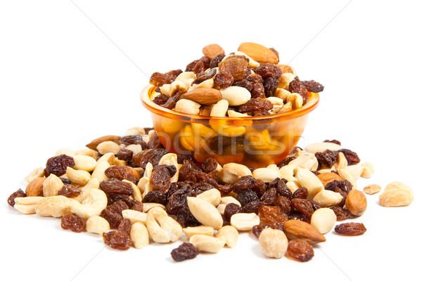 Mix of nuts close up on white.  mix nuts isolated on white backg Stock photo © EwaStudio