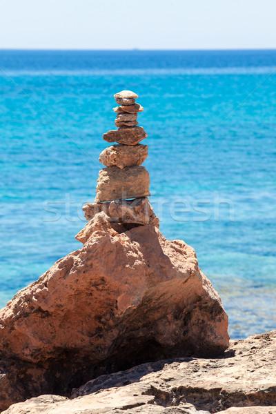 камней аннотация морем синий расслабиться Сток-фото © EwaStudio