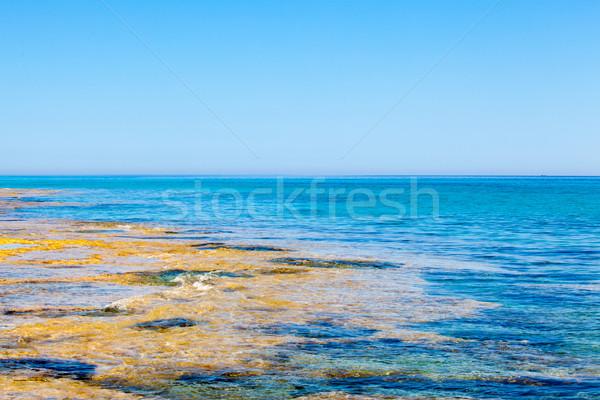 Cap eilanden natuur achtergrond zomer Blauw Stockfoto © EwaStudio