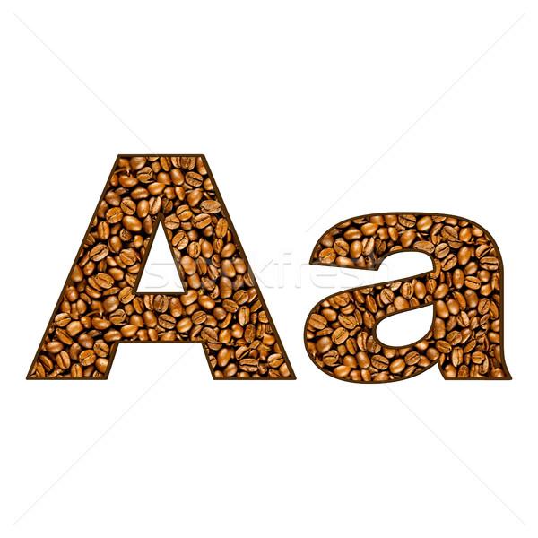 Café carta branco um alfabeto abstrato Foto stock © EwaStudio