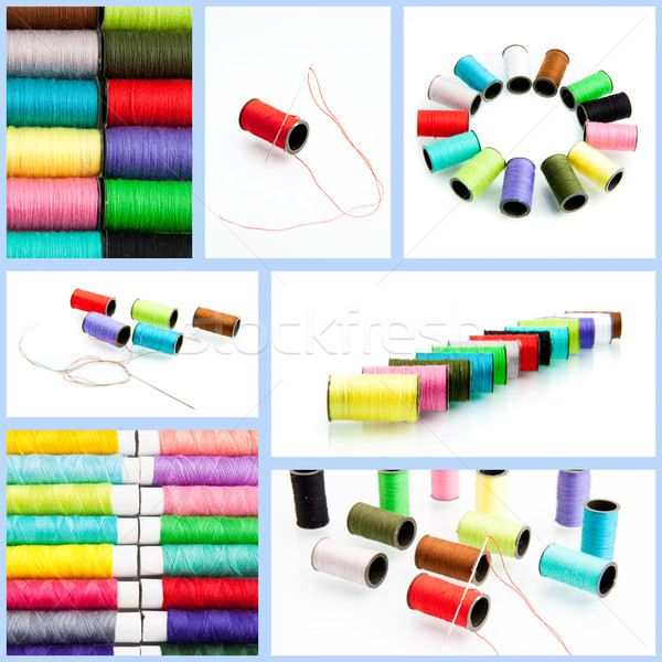 threads multicolored.  collection of color thread isolated on wh Stock photo © EwaStudio