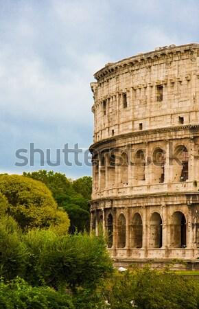 Colosseum Roma yaz alan yeşil sahne Stok fotoğraf © EwaStudio
