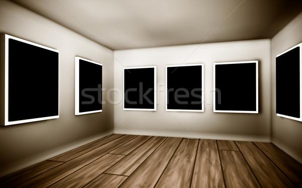 комнату украшение стены дизайна домой Сток-фото © EwaStudio