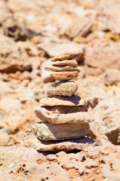 Dengeleme taşlar plaj sağlık ibadet başarı Stok fotoğraf © EwaStudio
