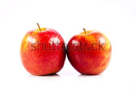 Piros almák étel gyümölcs dzsúz mezőgazdaság Stock fotó © EwaStudio
