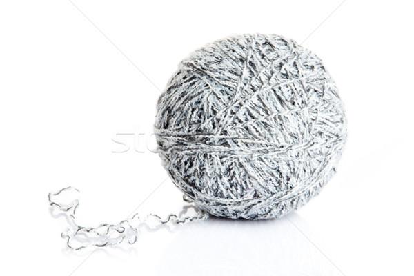 ball of yarn for knitting isolated on white background  Stock photo © EwaStudio