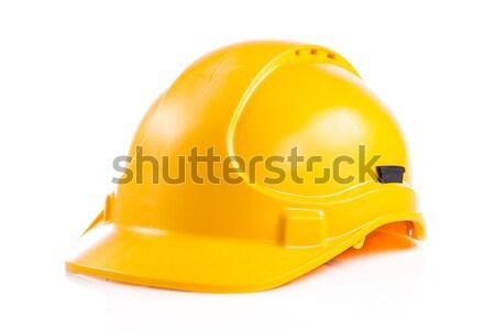 Geel helm geïsoleerd witte veiligheidshelm werk Stockfoto © EwaStudio