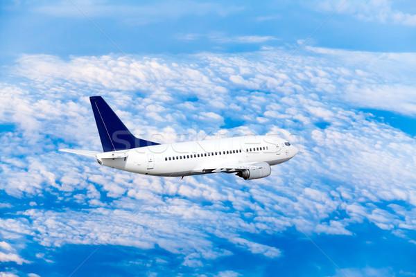 飛行機 フライ 空 雲 ビジネス 日没 ストックフォト © EwaStudio