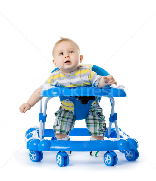 little  baby in the baby walker. Stock photo © EwaStudio