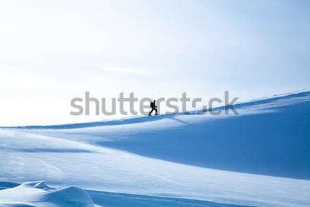 climbing a mountain. alpinists climbing a mountain Stock photo © EwaStudio