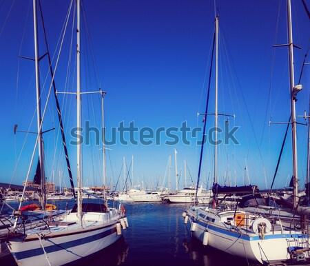 Mare porta barche porto arco marina Foto d'archivio © EwaStudio