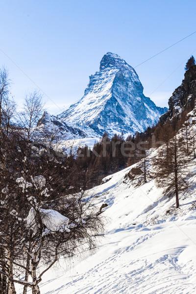 Альпы небе природы пейзаж горные Европа Сток-фото © EwaStudio