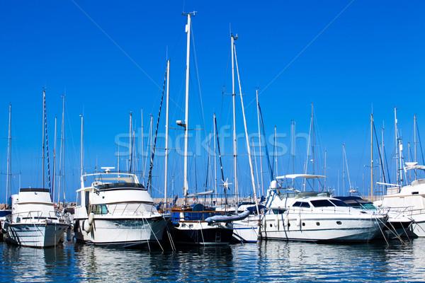 Bateaux port arc marina eau sport Photo stock © EwaStudio