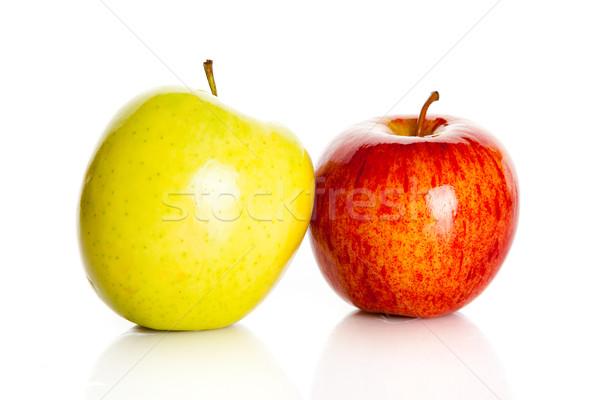 свежие красочный яблоки изолированный белый фрукты Сток-фото © EwaStudio