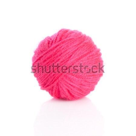 Roze garen bal witte textuur achtergrond Stockfoto © EwaStudio