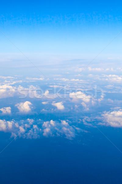 Clouds.   Plane view from the window.  Stock photo © EwaStudio