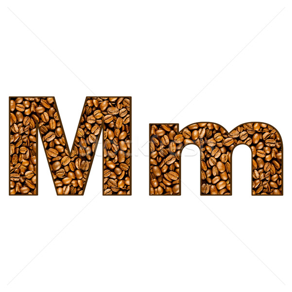Coffee Letter On White One Letter Of Coffee Alphabet Letter Stock