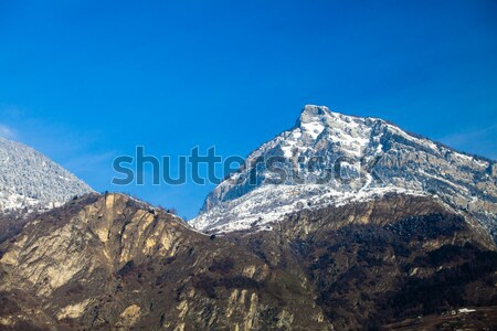 Landscape of the mountains covered with snow. Snowy Mountain.  Stock photo © EwaStudio