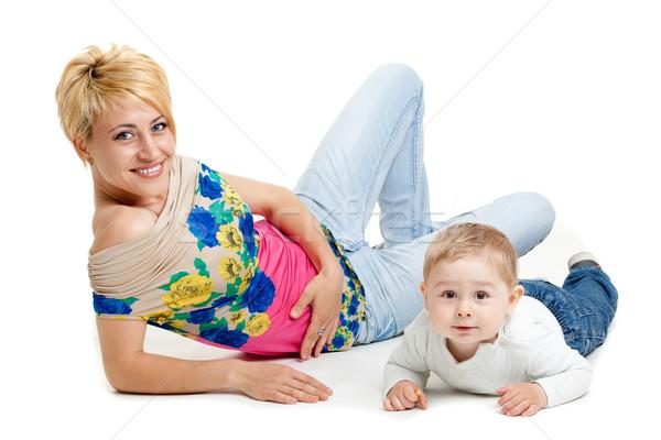 Gelukkig moeder aanbiddelijk baby vrouw familie Stockfoto © EwaStudio