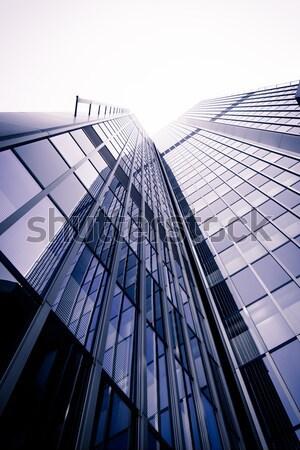 オフィスビル 現代 ガラス シルエット 高層ビル 空 ストックフォト © EwaStudio