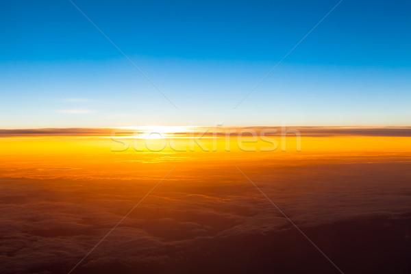 日没 空 抽象的な 背景 夏 グループ ストックフォト © EwaStudio